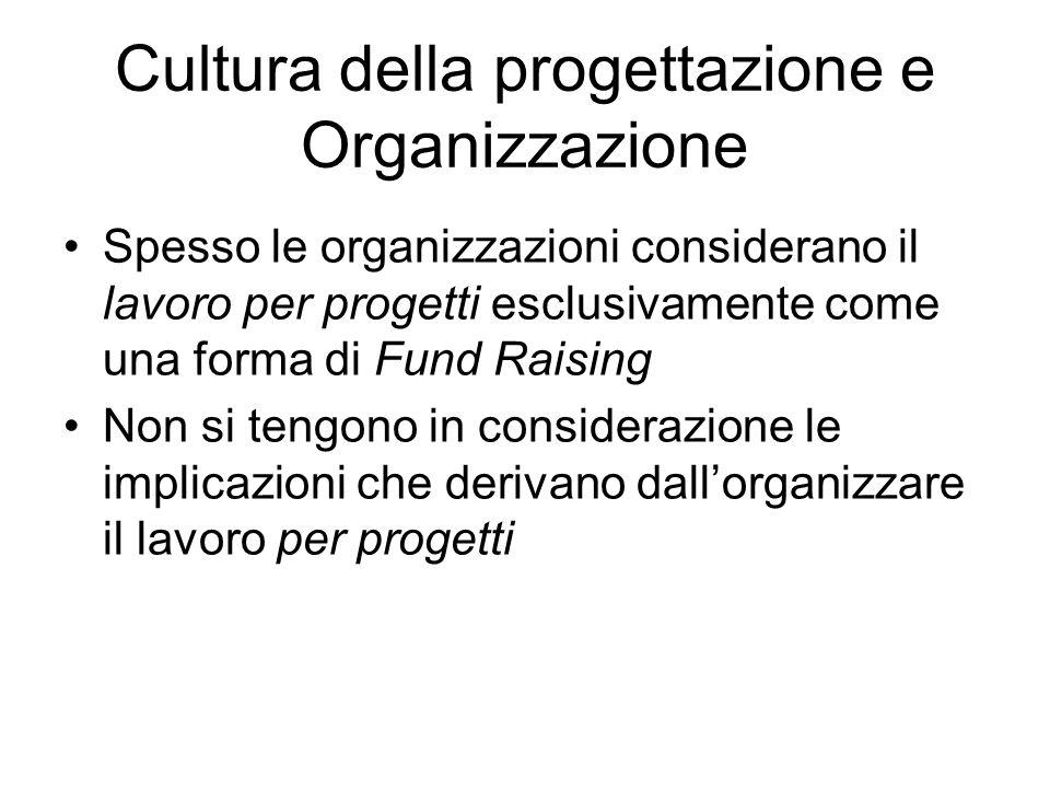 Cultura della progettazione e Organizzazione