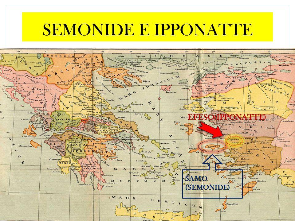 SEMONIDE E IPPONATTE EFESO(IPPONATTE) SAMO (SEMONIDE)