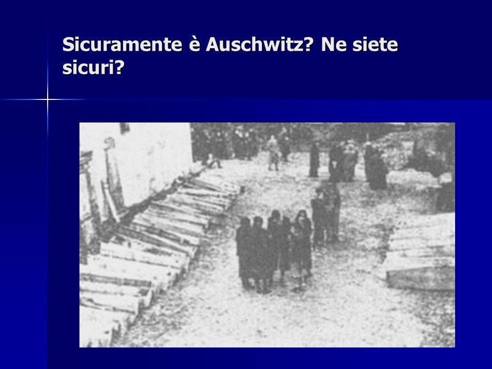 Sicuramente è Auschwitz Ne siete sicuri