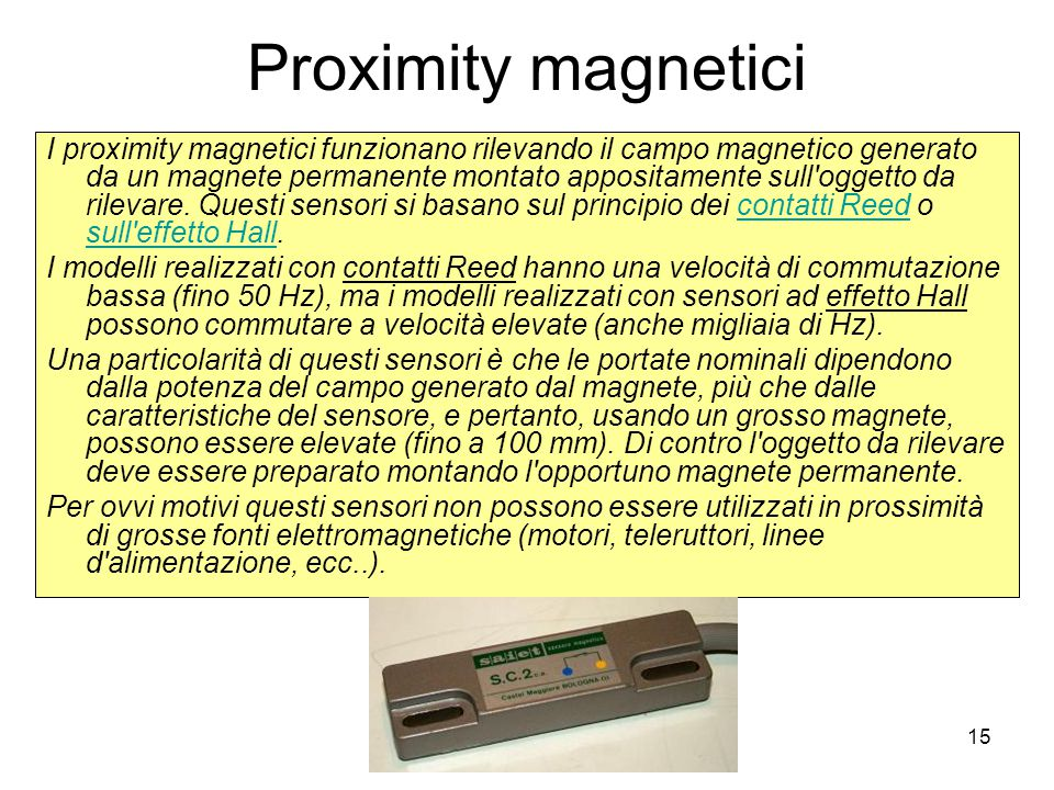 Proximity magnetici
