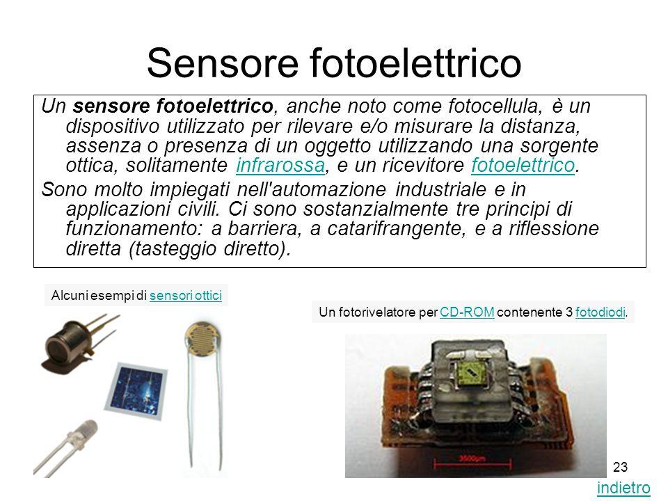 Sensore fotoelettrico