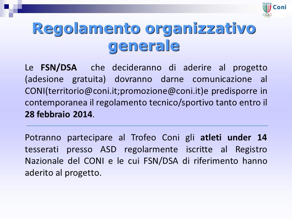 Regolamento organizzativo generale
