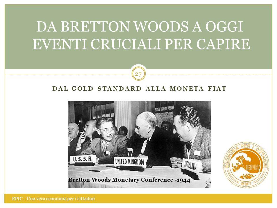 DA BRETTON WOODS A OGGI EVENTI CRUCIALI PER CAPIRE