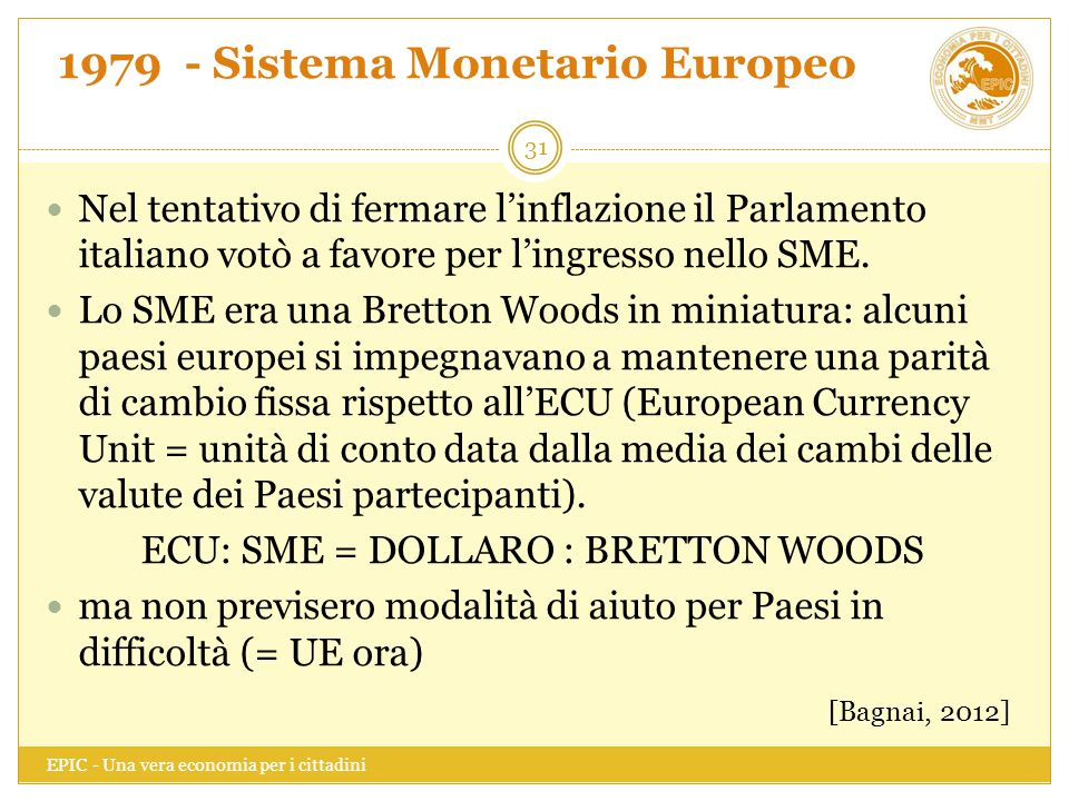 1979 - Sistema Monetario Europeo