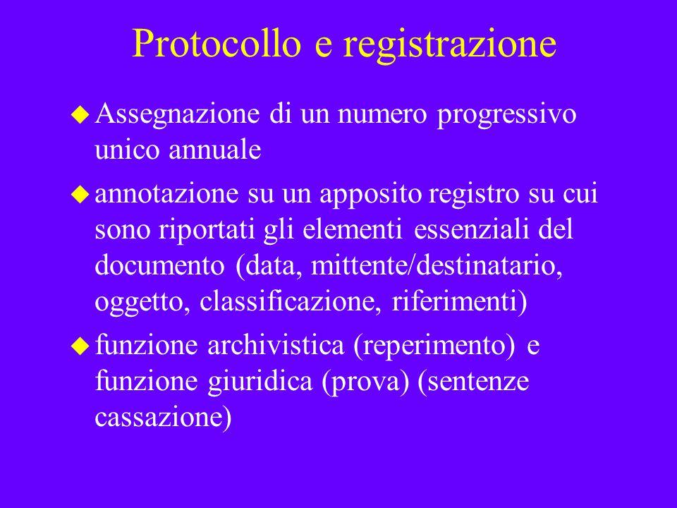 Protocollo e registrazione