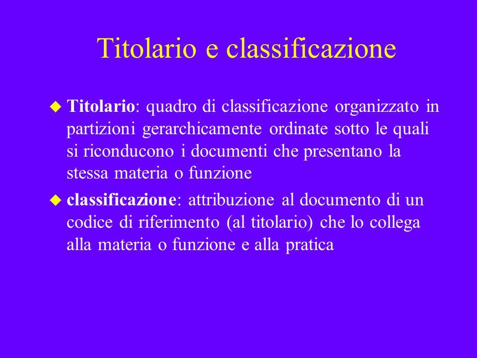 Titolario e classificazione