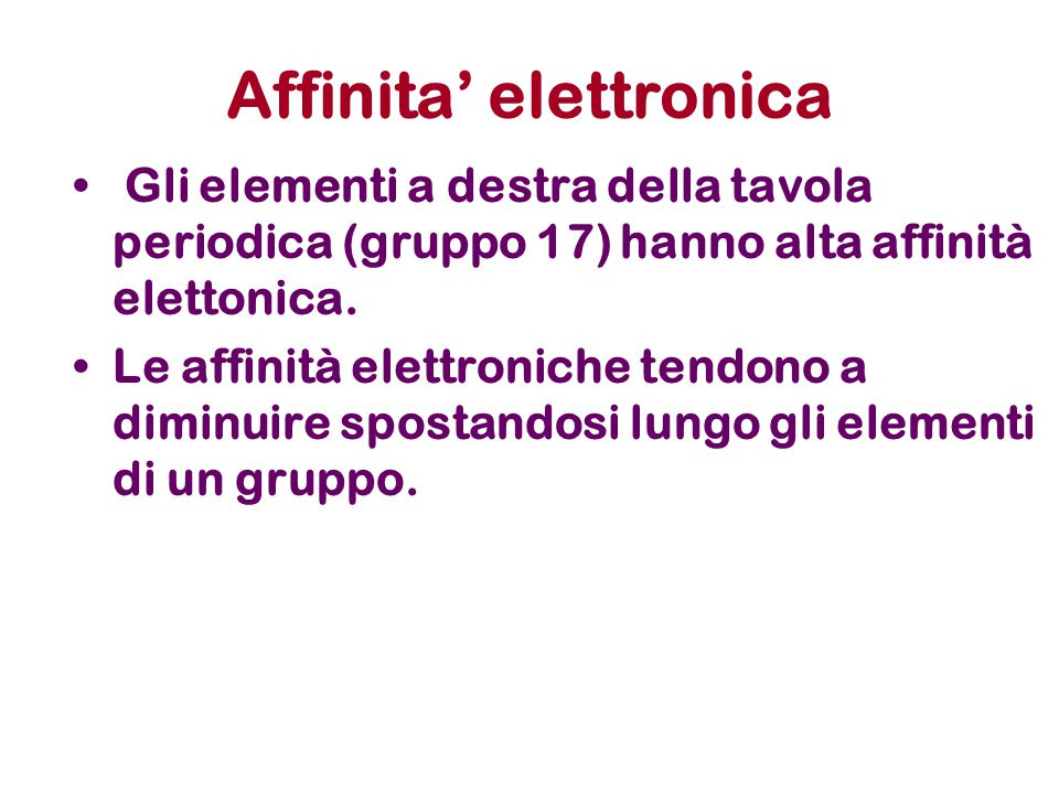 Affinita' elettronica