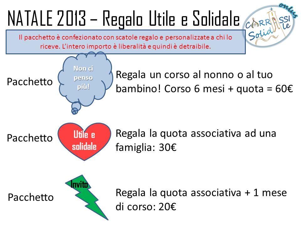 NATALE 2013 – Regalo Utile e Solidale