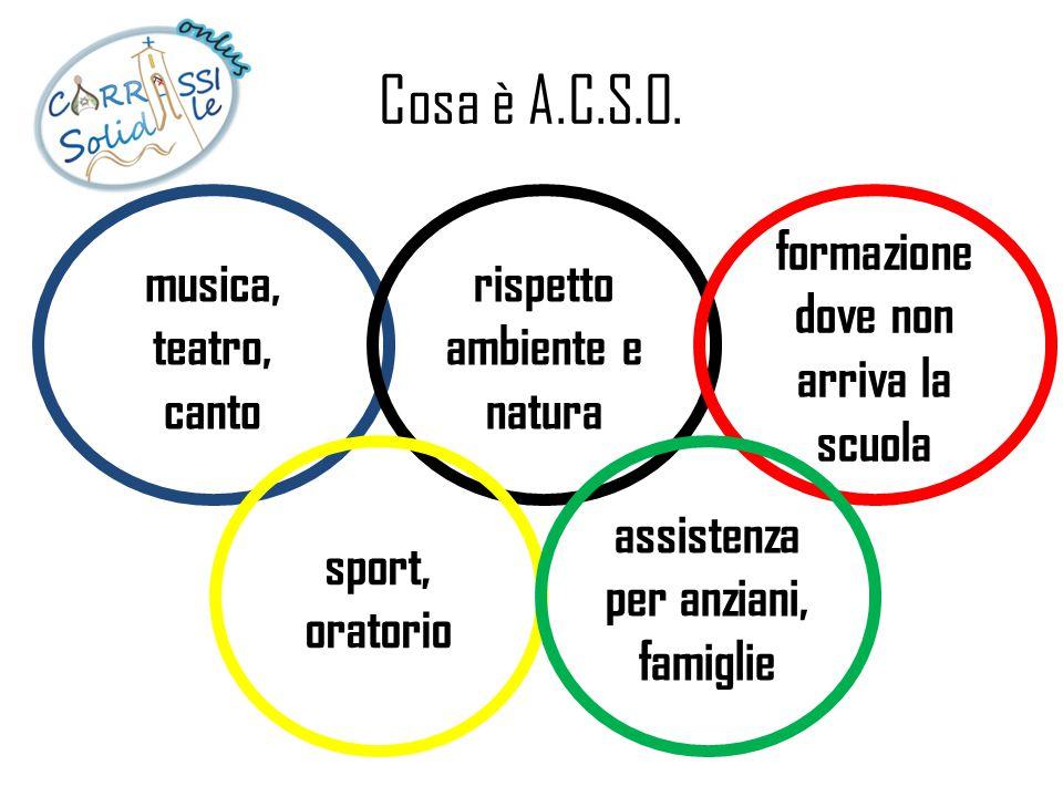 Cosa è A.C.S.O. musica, teatro, canto rispetto ambiente e natura