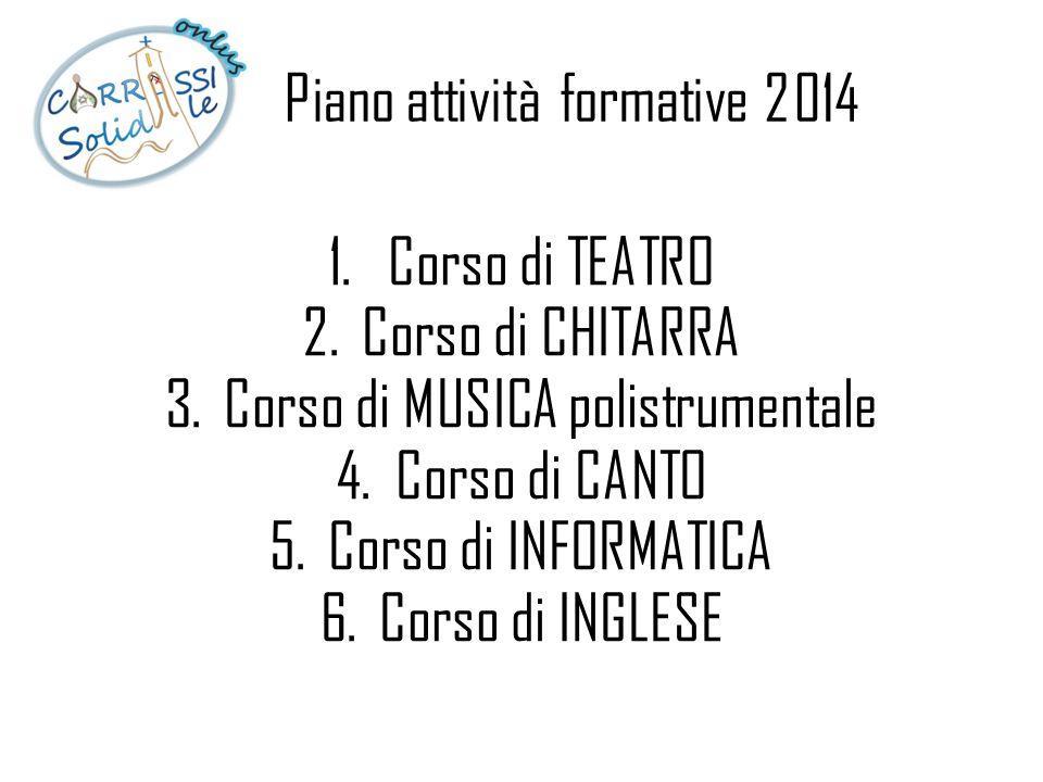 Piano attività formative 2014