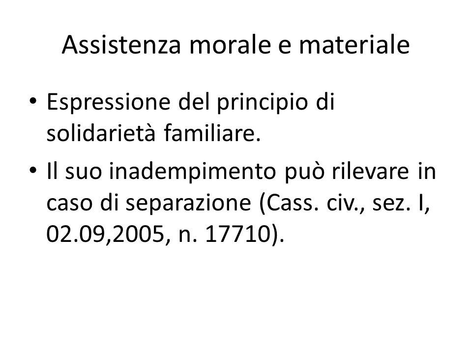 Assistenza morale e materiale