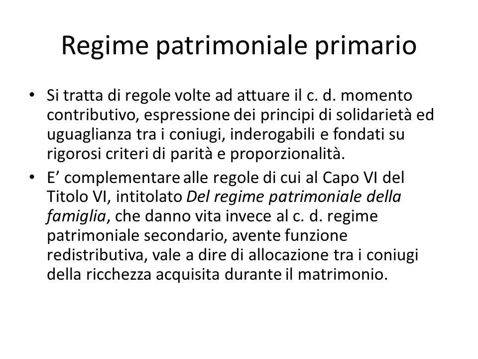 Regime patrimoniale primario