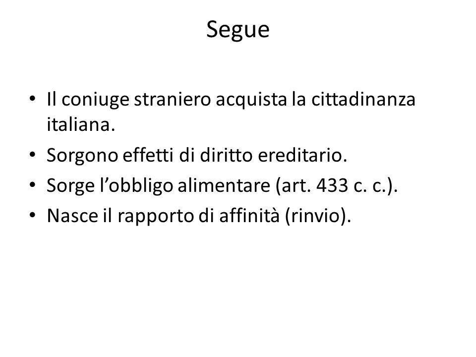 Segue Il coniuge straniero acquista la cittadinanza italiana.
