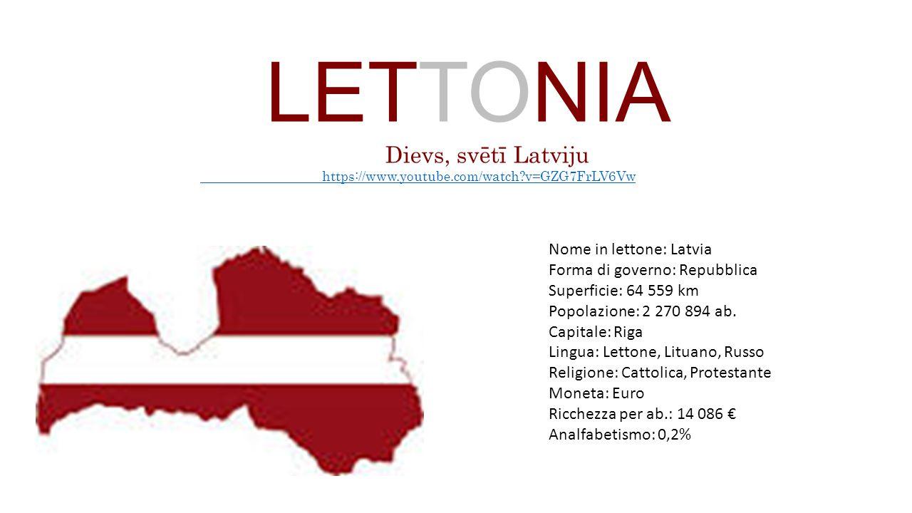 LETTONIA Dievs, svētī Latviju Nome in lettone: Latvia