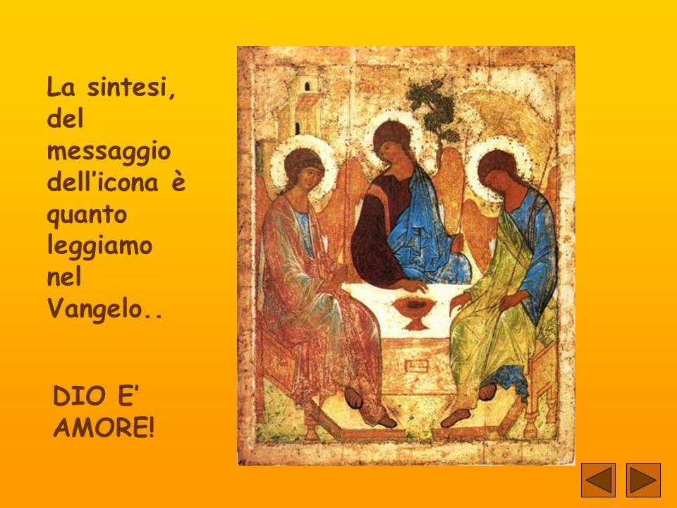 La sintesi, del messaggio dell'icona è quanto leggiamo nel Vangelo..