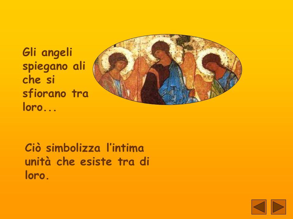 Gli angeli spiegano ali che si sfiorano tra loro...