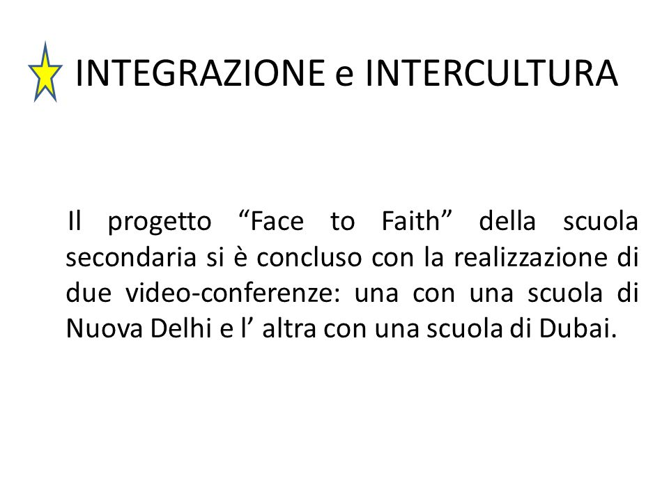 INTEGRAZIONE e INTERCULTURA