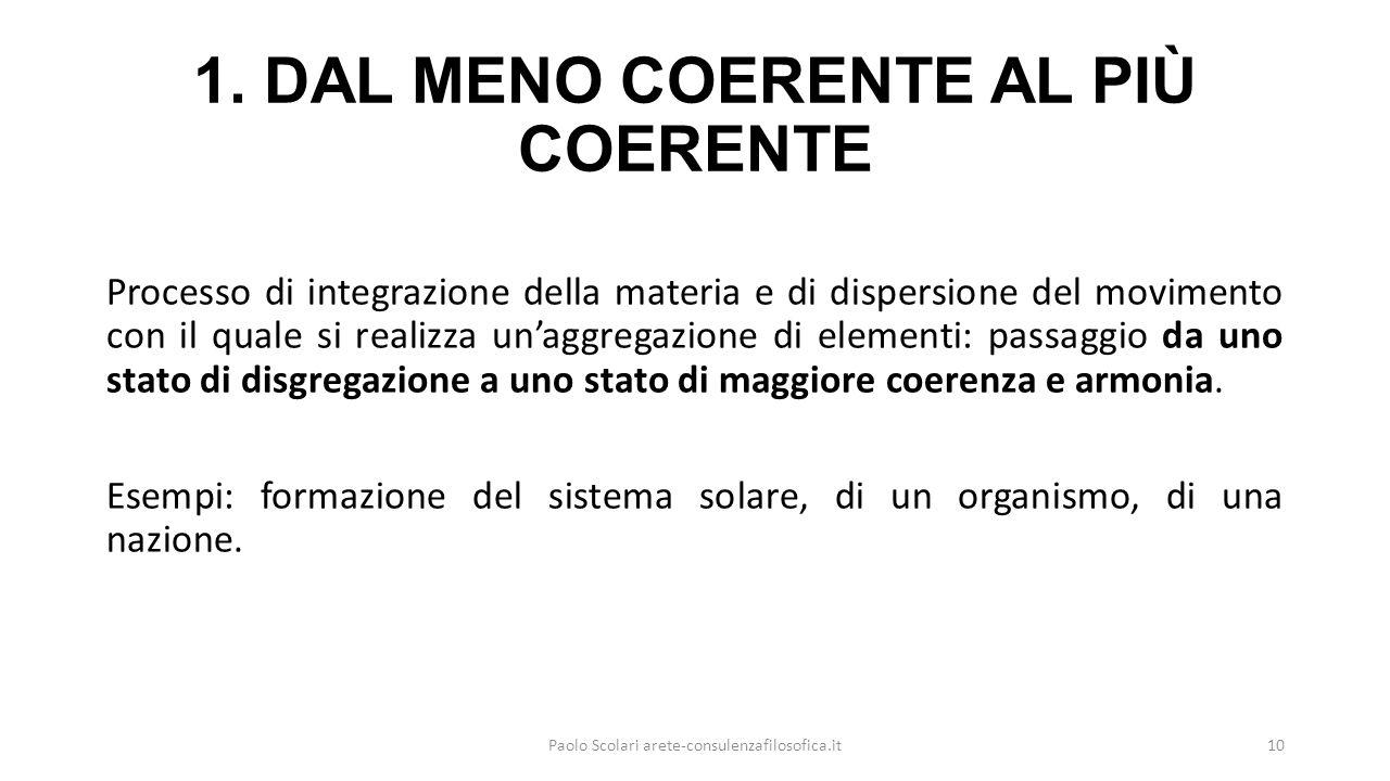 1. DAL MENO COERENTE AL PIÙ COERENTE