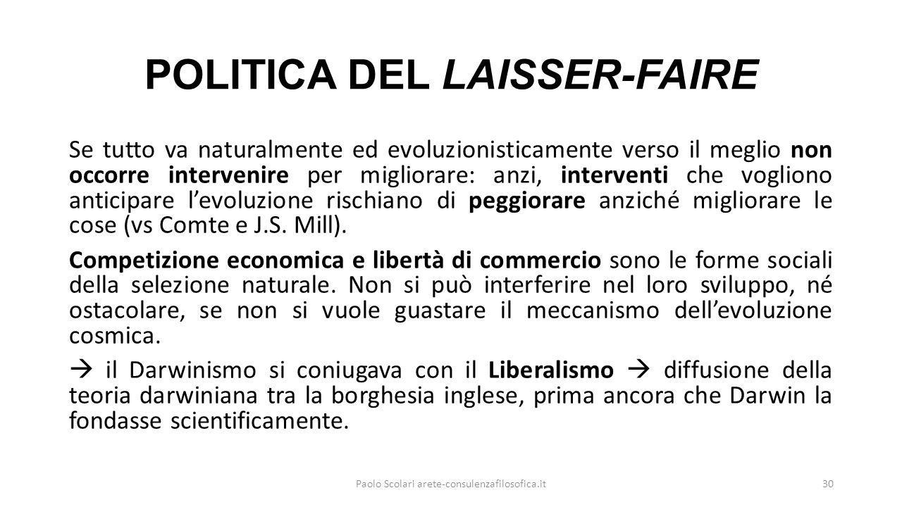 POLITICA DEL LAISSER-FAIRE