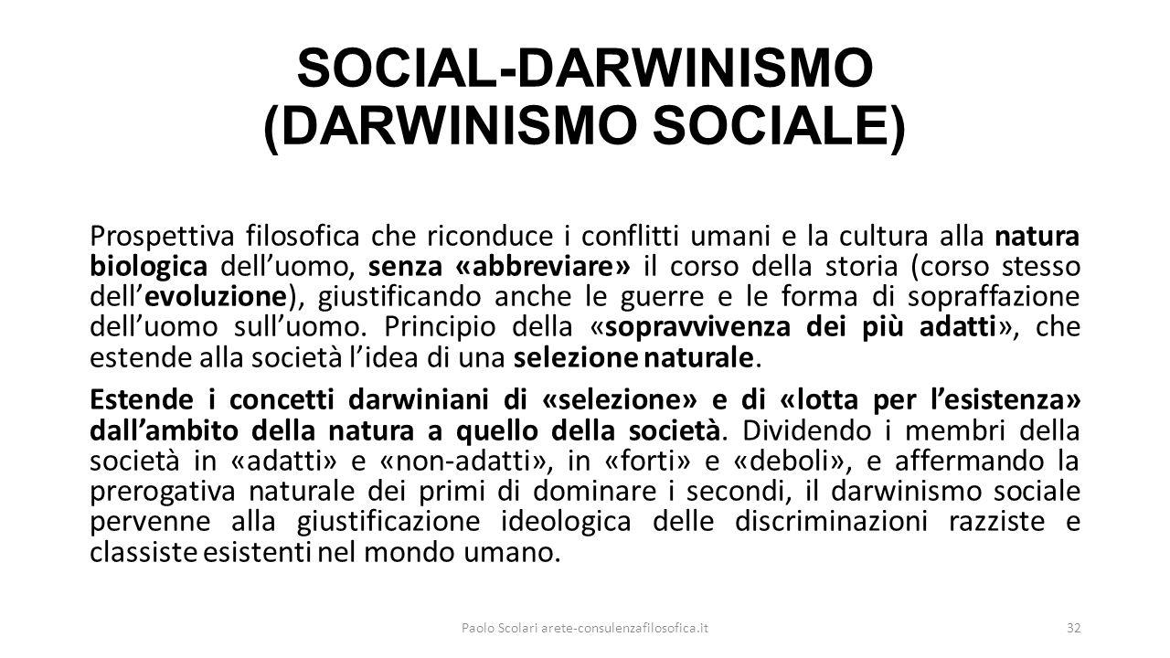 SOCIAL-DARWINISMO (DARWINISMO SOCIALE)