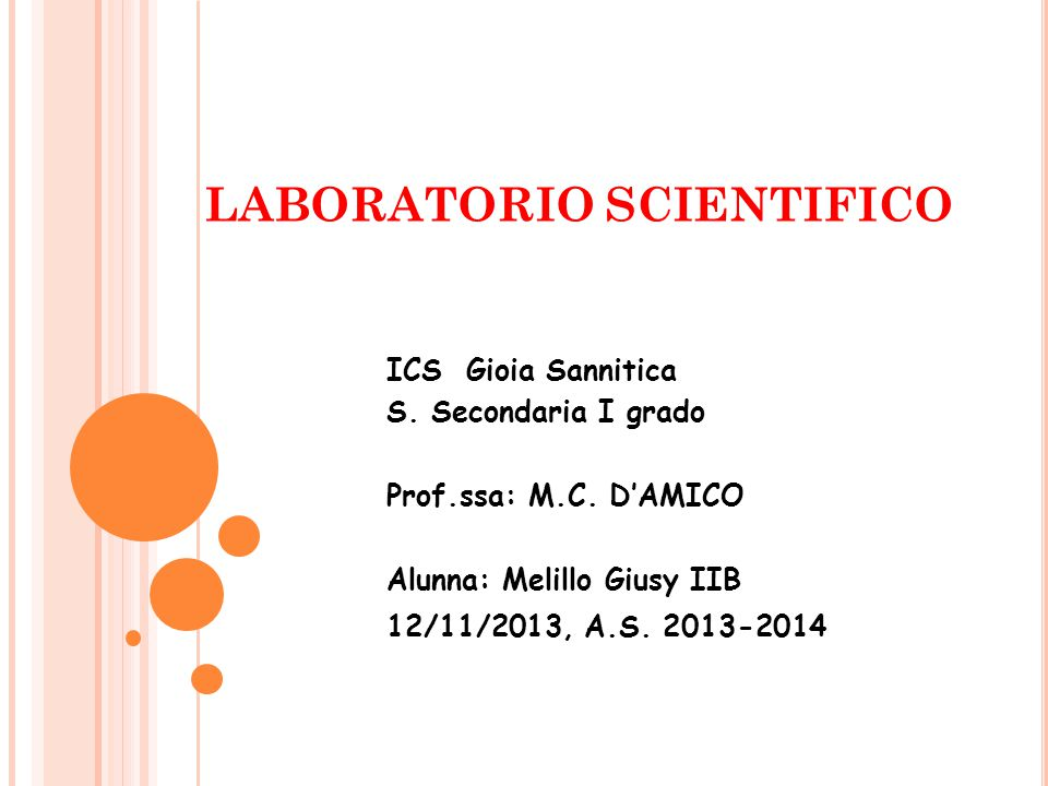LABORATORIO SCIENTIFICO