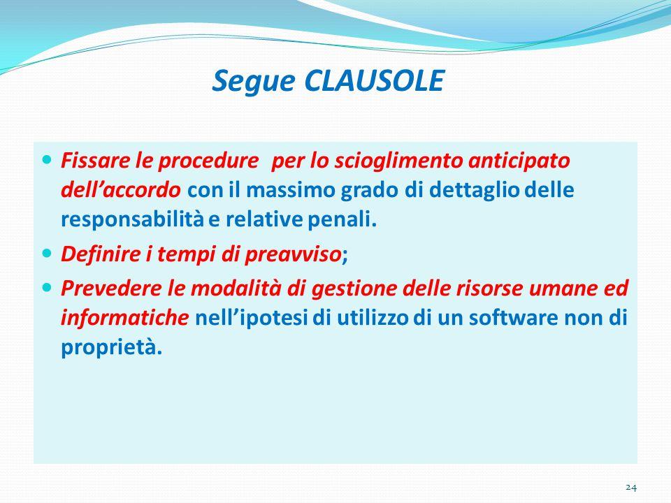 Segue CLAUSOLE