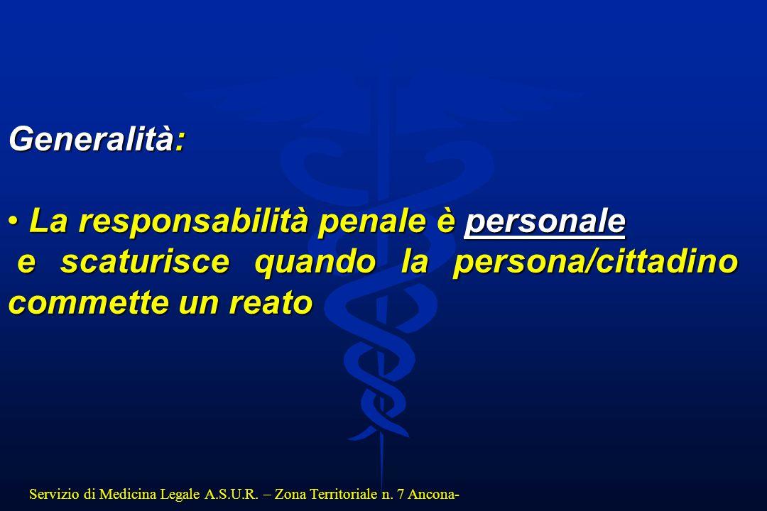 La responsabilità penale è personale