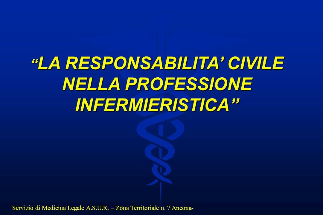 LA RESPONSABILITA' CIVILE NELLA PROFESSIONE INFERMIERISTICA