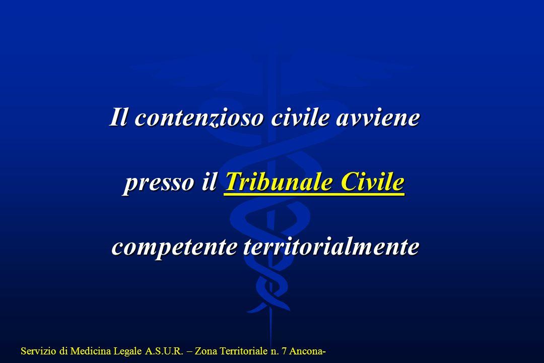 Il contenzioso civile avviene presso il Tribunale Civile