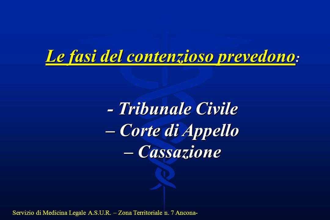 Le fasi del contenzioso prevedono: