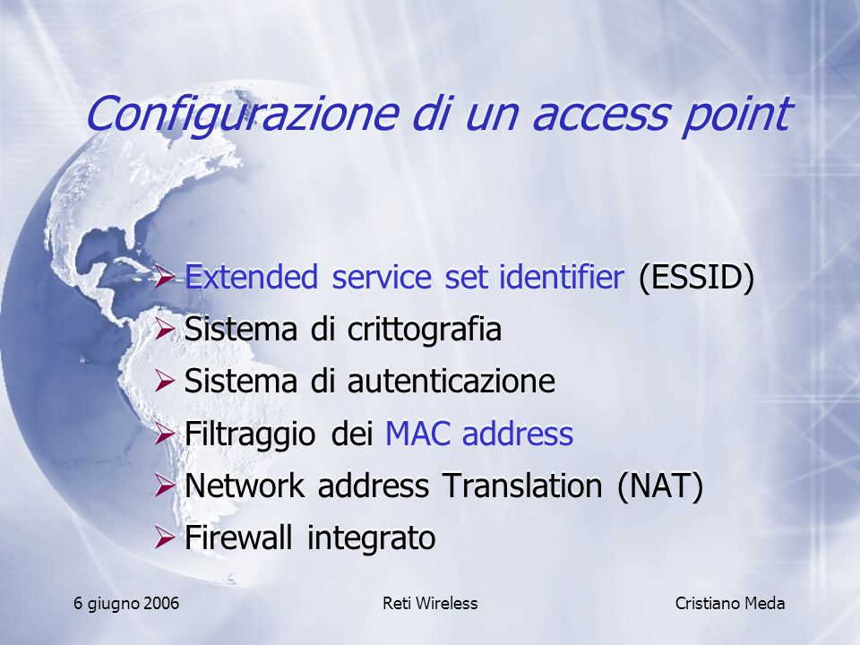 Configurazione di un access point