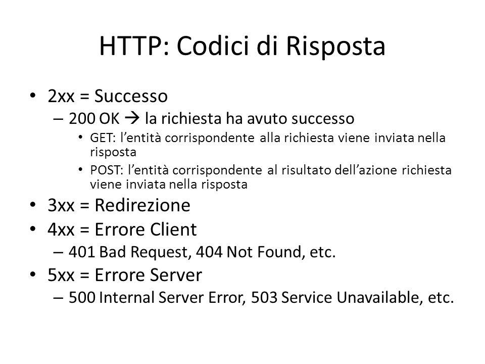 HTTP: Codici di Risposta