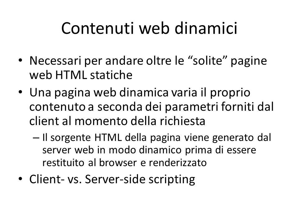 Contenuti web dinamici