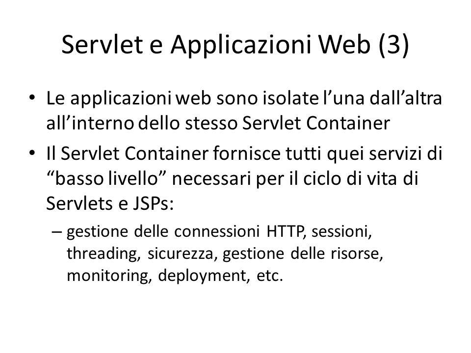 Servlet e Applicazioni Web (3)