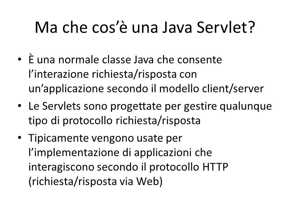 Ma che cos'è una Java Servlet
