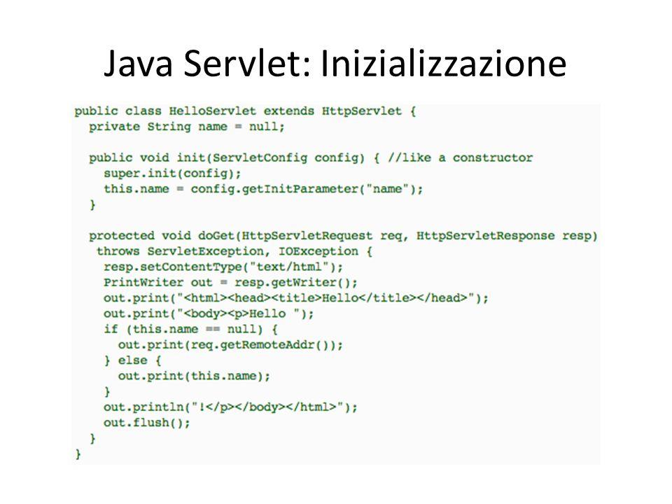 Java Servlet: Inizializzazione