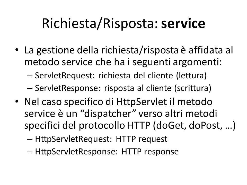 Richiesta/Risposta: service
