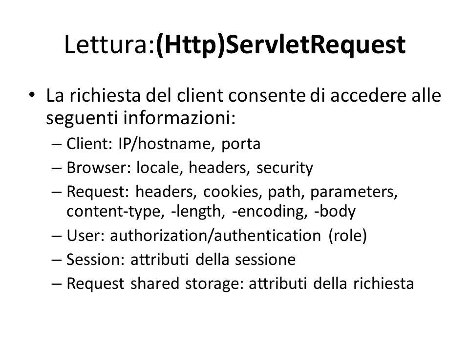 Lettura:(Http)ServletRequest
