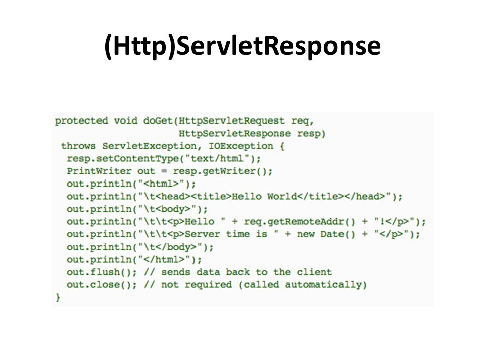(Http)ServletResponse