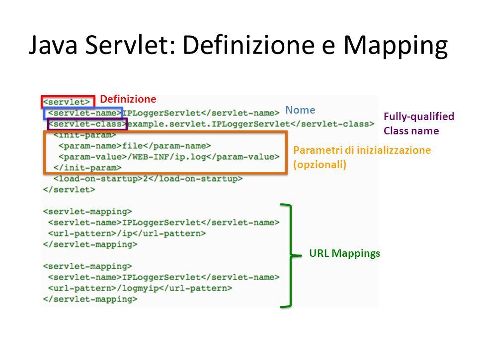 Java Servlet: Definizione e Mapping