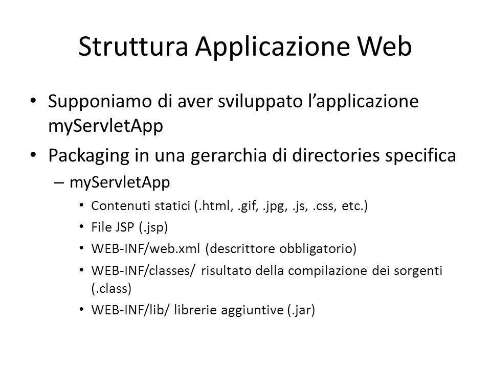 Struttura Applicazione Web