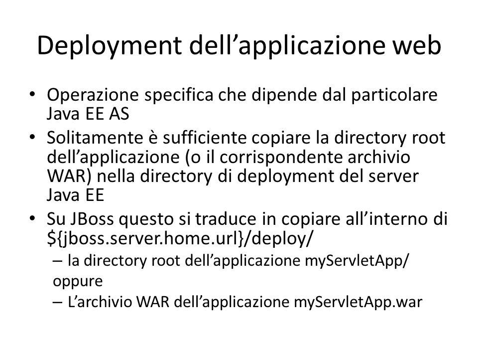 Deployment dell'applicazione web