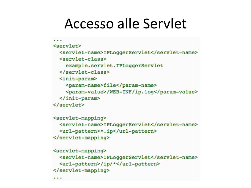 Accesso alle Servlet