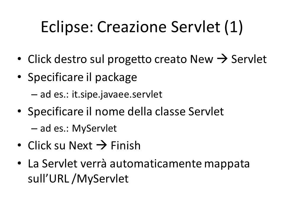 Eclipse: Creazione Servlet (1)
