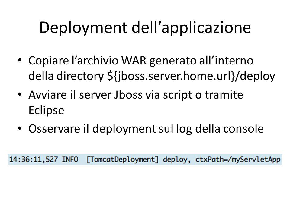 Deployment dell'applicazione