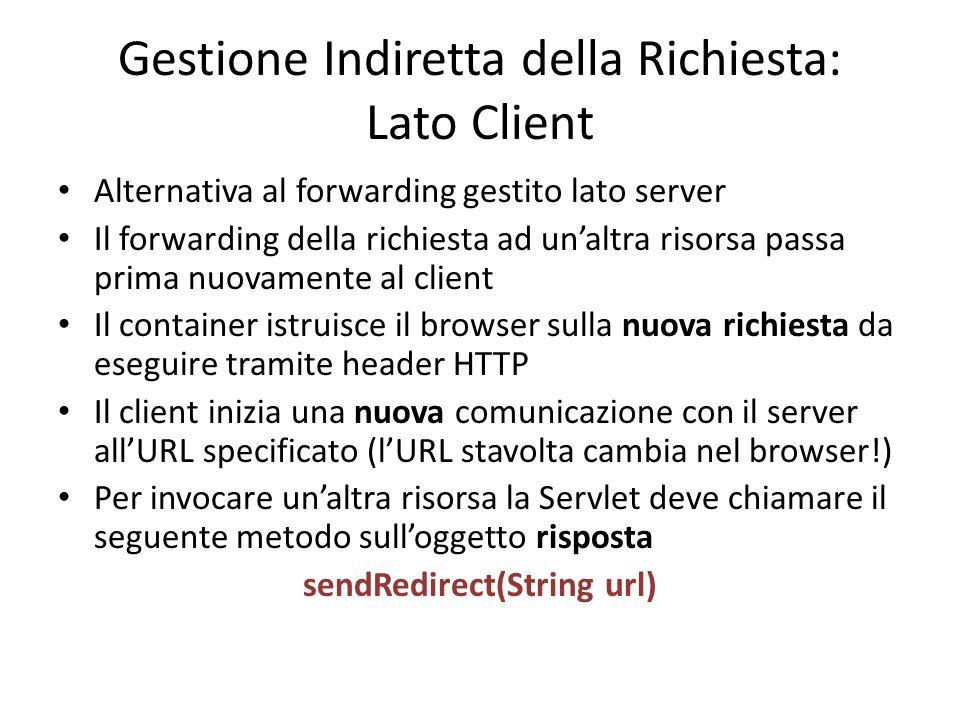 Gestione Indiretta della Richiesta: Lato Client