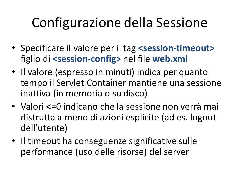 Configurazione della Sessione