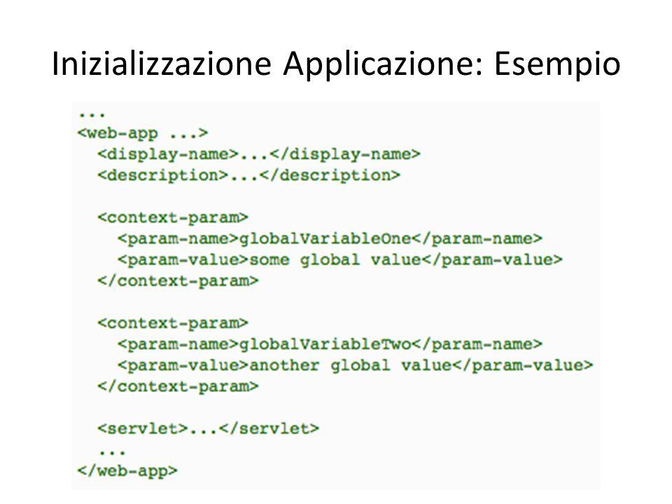 Inizializzazione Applicazione: Esempio