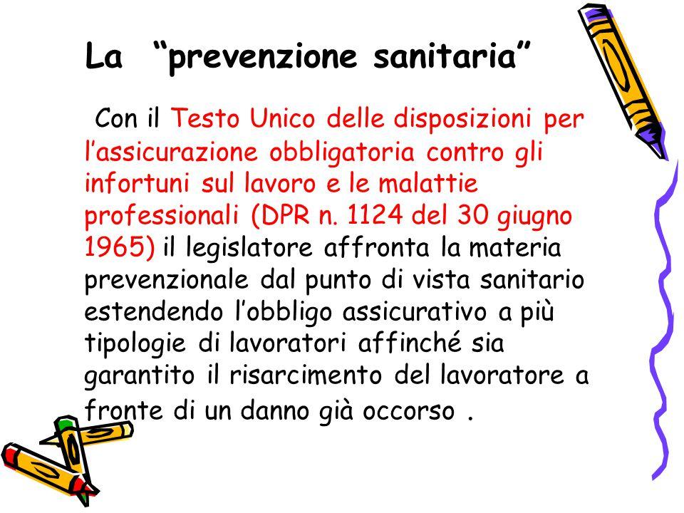La prevenzione sanitaria