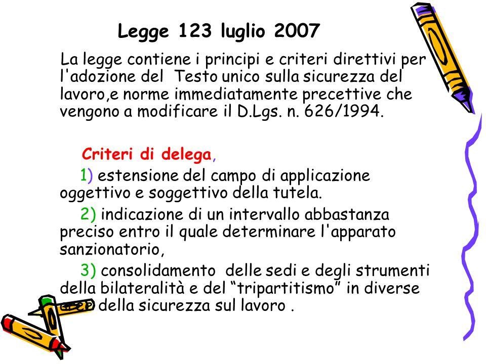 Legge 123 luglio 2007